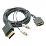 KABEL VGA DO XBOX 360 D-SUB + 2 x AUDIO